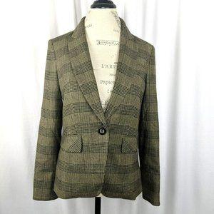 Veronica Beard Green Plaid Dickey Jacket